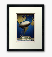 Steampunk Airship: Laurentian Homestead Framed Print
