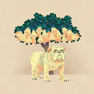 Bulldog in the Shade by JTWilcox