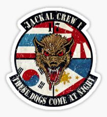 USAF 17th Squadron Jackal Sticker