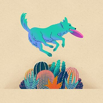 Dog Making the Catch by JTWilcox
