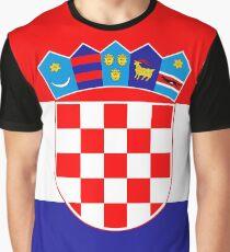 Hrvtatski Flag Crest Graphic T-Shirt