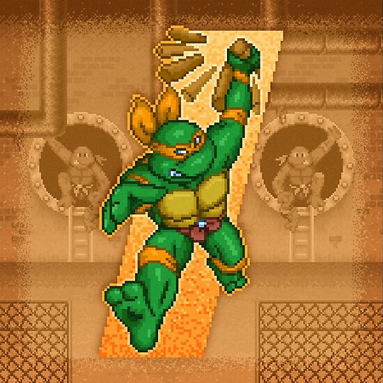 Michelangelo is a party dude by likelikes