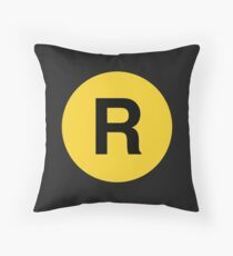 The R Line  - NYC Subway Throw Pillow