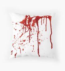 Blood Splatter Throw Pillow