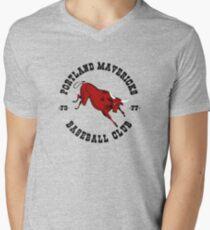 Portland Mavericks Baseball Club Shirt Retro Vintage 70s TBT Men's V-Neck T-Shirt