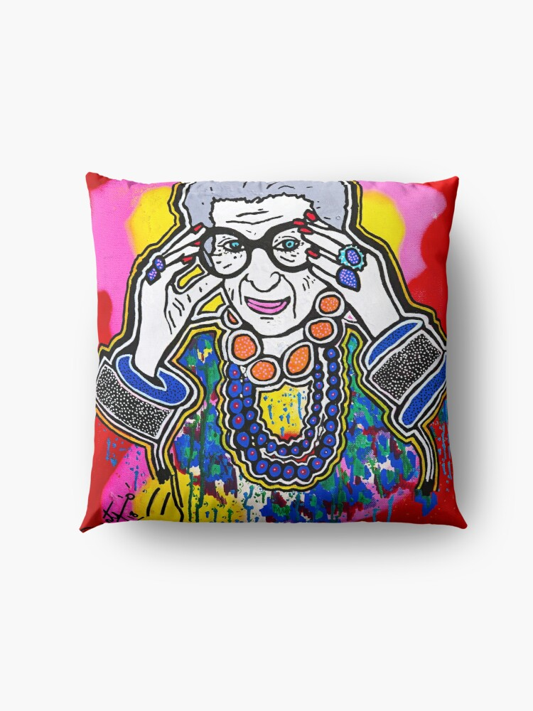 Alternate view of The Iris Apfel Merchandise Collection by Dusty O Floor Pillow