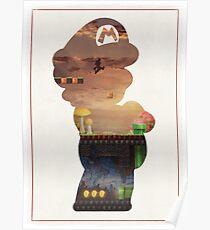 Mushroom Kingdom Minimalist Art Poster