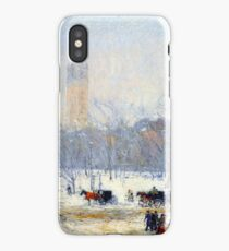 Childe Hassam Snowstorm Madison Square iPhone Case/Skin