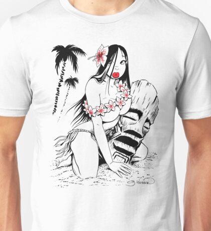 Hula Girl and Tiki # 3 T-Shirt