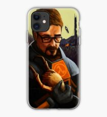 Vinilo o funda para iPhone Gordon sosteniendo un headcrab