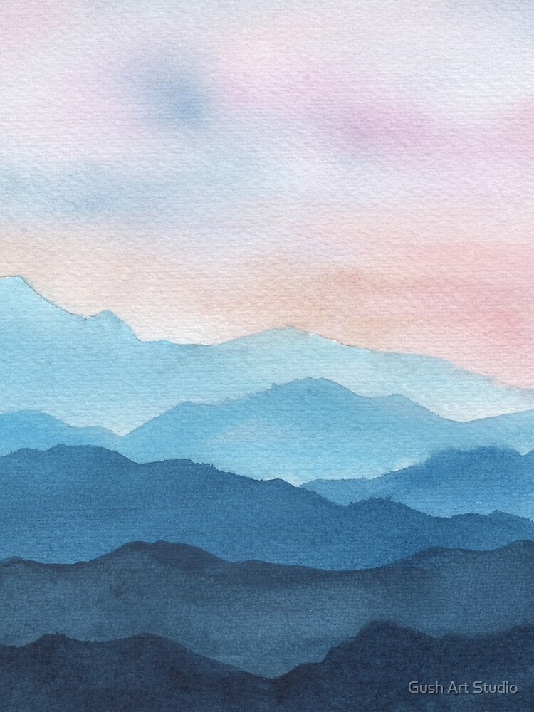 Blue Abstract Mountains by gusstvaraonica