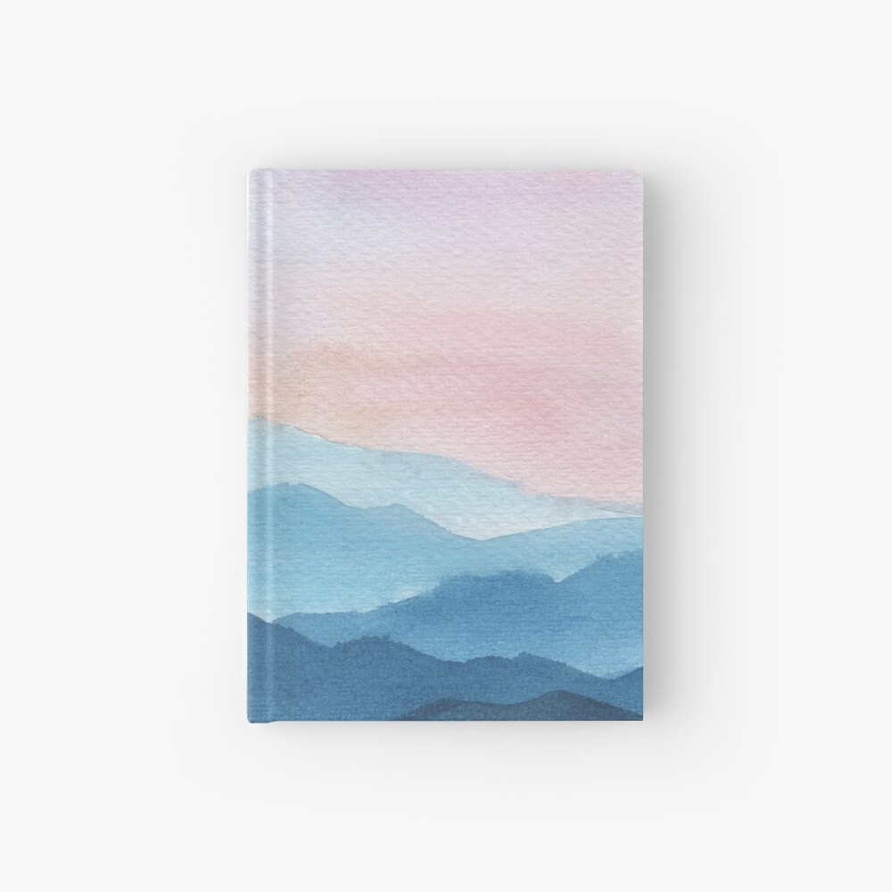Blue Abstract Mountains Hardcover Journal