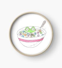 Cereal Frog Clock