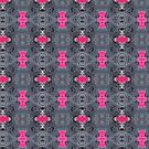Pink and Grey Pattern by FrancesArt