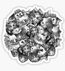 Cute Strange Creepy Weird Cat Pattern Sticker