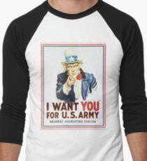 Uncle Sam Men's Baseball ¾ T-Shirt