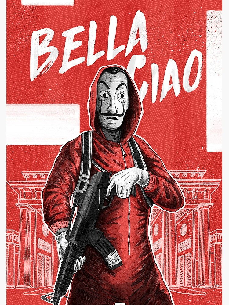 La Casa De Papel Money Heist Bella Ciao Dali Mask Canvas Print