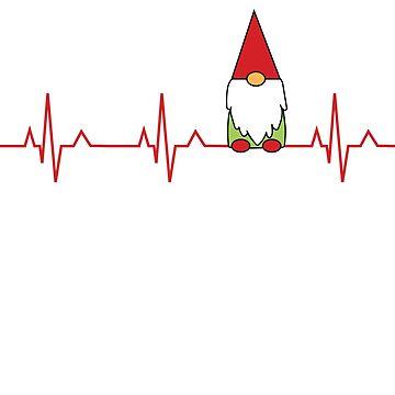 I Love Gnomes Heartbeat Gnome by lcorri