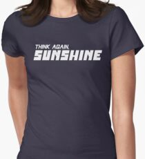 50773442c5d50 Think Again Sunshine Jordan Peterson Quote (White Graphic) Women s Fitted T- Shirt