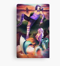 The Siren and the Mermaid Canvas Print