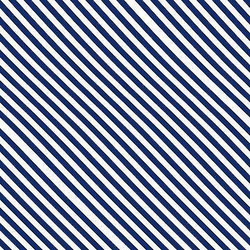 Navy Blue and White Stripes by loredana53