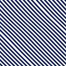 Navy Blue and White Stripes by Loredana Crupi