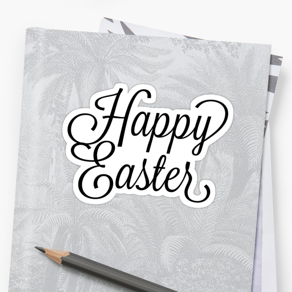 Happy Easter Pegatina