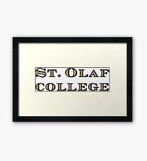 St. Olaf College  Framed Print