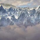 Himalayan ice pinnacles by Istvan Hernadi
