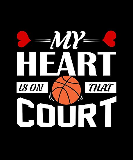 my heart is on that court basketball shirt basketball coach gift