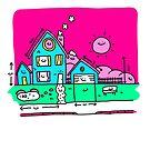 Glückliche Haus Blueprints von Porky Roebuck