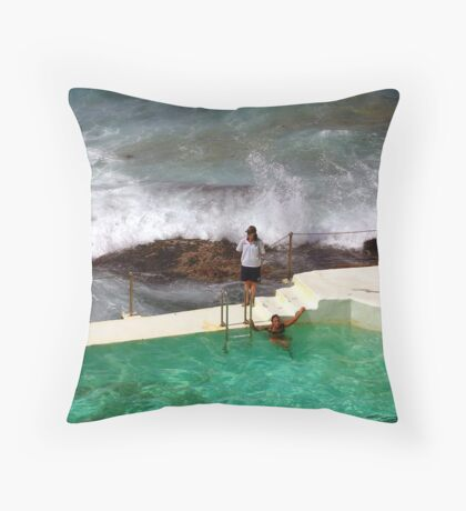 Sydney's Bondi Beach Throw Pillow