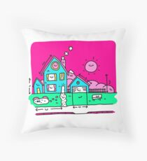 Happy Home Blueprints Throw Pillow
