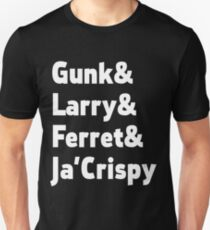 Impractical Jokers - Nickname Line-Up (Font 1) (White Text) Unisex T-Shirt