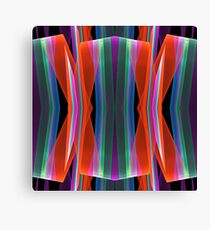 Colourful geometric abstract Canvas Print