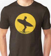 Surfer Girl Silhouette Unisex T-Shirt