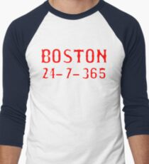 Boston 24-7-365 Shirt - Gift For Boston Fans Men's Baseball ¾ T-Shirt
