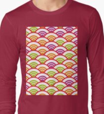 Seigaiha or seigainami literally means wave of the sea. Abstract japanese scales  Long Sleeve T-Shirt