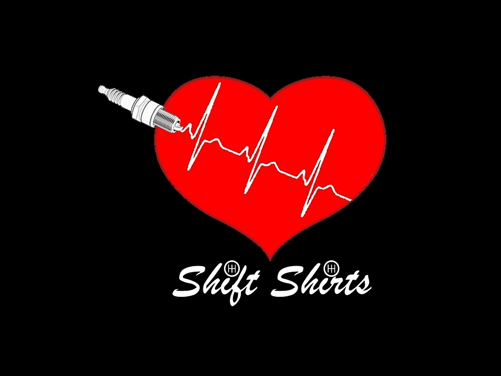 Shift Shirts Spark My Heart - Automotive Love by ShiftShirts