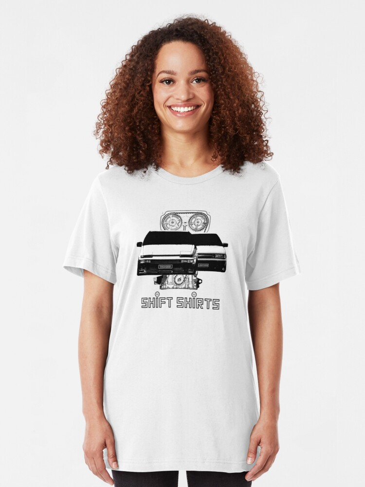 Alternate view of Shift Shirts Lightning and Thunder - AE86 Inspired Slim Fit T-Shirt