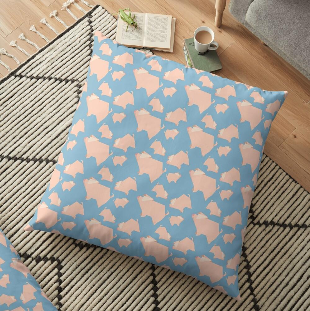 Paper Pigs (Patterns Please) Floor Pillow