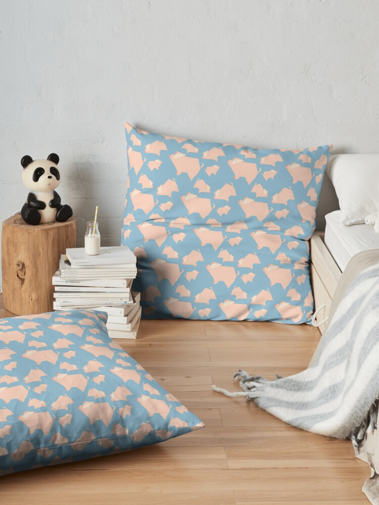 Alternate view of Paper Pigs (Patterns Please) Floor Pillow