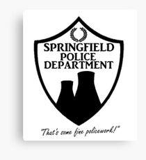 Springfield PD Canvas Print