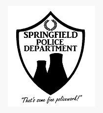 Springfield PD Photographic Print