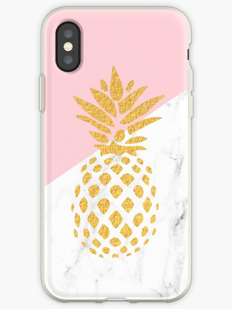best service 6a057 3cb21 'Iphone Android Phone Cases Gold Pineapple Phone Case' iPhone Case by Makx  Media