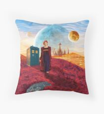 13th Doctor at gallifrey planet Throw Pillow