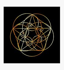 Fibonacci Spirale - Die heilige Geometrie Fotodruck