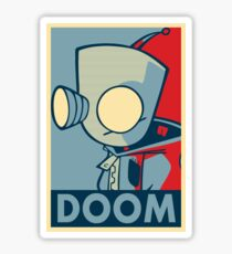 DOOOOOM - Gir Sticker