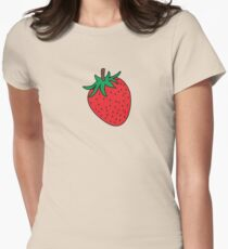 Strawberry Pattern Women's Fitted T-Shirt