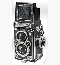 Rolleiflex. Worlds Best TLR Camera. Analogue Rules  Poster